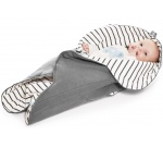 Wallaboo beebitekk Fleur - Striped/Grey WWF.0310.1931